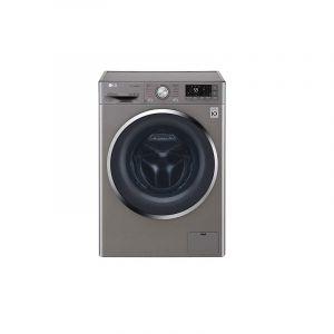LG Front Loading Automatic Washing Machine 9kg, 5kg Dryer, Steam, Smart ThinQ, Wi–Fi, Steel - WSC0905XMN