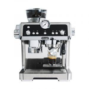 DeLonghi Espresso Machine 1450 W, 2 L, Compact Grinder, Metallic design - DLEC9335.M