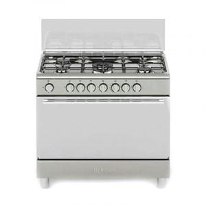 Bompany Oven Gas Size 60×90 cm, 5 Burner, full safety, Steel , Italy, - DIVA90GG5TCIX