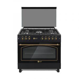 Dansat gas oven 60 × 90 cm ,5 Burner , Self-ignition, Grill, full safety, lamp,Turkey, Black - DOG6090BF