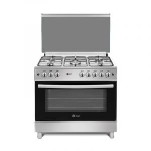 Dansat gas oven 60 × 90 cm ,5 Burner , Self-ignition, Grill, full safety, heavy grid,Turkey, steel - DOG6090STF