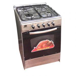 DANSAT  Gas oven size 55×55 cm black 4-p, Steel-DUG55SSF