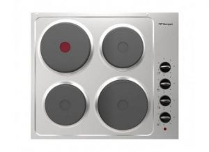 BOMPANI 4-Plate Electric Hob , BO253JF/E , Built in , Stone, Silver