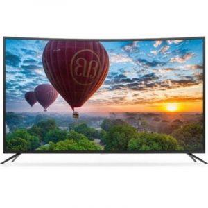 ATC TV 65 Inch, Curved, Smart, 4K Ultra HD, Black - E-LD-65ANP