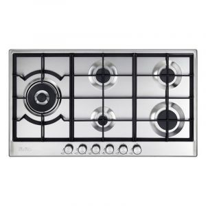 Elba Built in Gas Stainless Steel Hob 90 cm - ELIO 95-565 - Blackbox