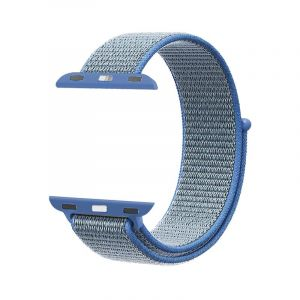 Promate Nylon Mesh Strap for 42mm Apple Watch , Blue - FIBRO-42.BLUE