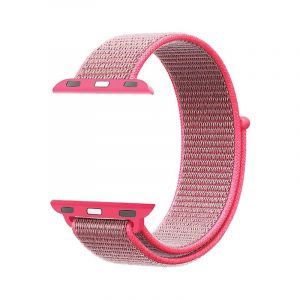 Promate Nylon Mesh Strap for 42mm Apple Watch , Pink- FIBRO-42.Pink