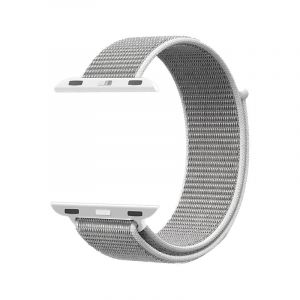 Promate Nylon Mesh Strap for 42mm Apple Watch , White - FIBRO-42.WHITE