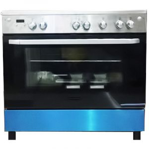 FRIGIDAIRE gas oven  size 60 × 90 cm steel ,5 Burner  gas, full safety, Egyptian, heavy grid-FNGE90JFRS