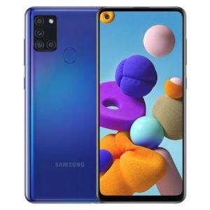 "Samsung Galaxy A21s 2020, 6.5"" , Memory 64 GB , 4 GB RAM, Back Quad Camera - Blue"