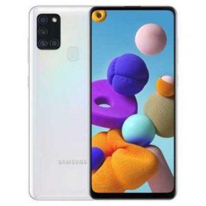 "Samsung Galaxy A21s 2020, 6.5"" , Memory 64 GB , 4 GB RAM, Back Quad Camera - White"