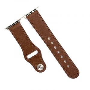 Promate Genuine Leather Strap 42mm Apple Watch , Brown - GENIO-42.BROWN
