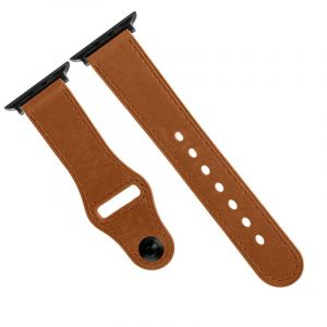 Promate Genuine Leather Strap 42mm Apple Watch , Lightbrown - GENIO-42.L-BROWN