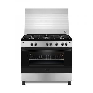 Gibson gas oven 60 × 90 cm ,5 Burner gas, full safety, Egyptian, steel - GNGJ90JGWC