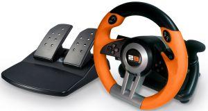 2B Game Racing Wheel for PC/PS2/PS3, Orange, GP-01-7