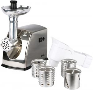 ATC Meat Mincer,1600 W , 2.2 kg, Stainless Steel Material,Big Vegetables Cutters 4 Graters - H-MG-160