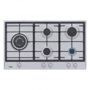 Simfer Cooker Flat Gas , 5 Eyes, 90 cm, Full Safety , Steel - H 9501 CGRM