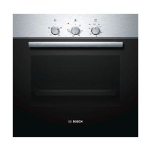 Bosch Built in oven 60 cm, mechanical timer, 66 liter, 4 heating modes ,steel - HBN211E2M