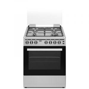 Haas Gas Oven 60x60 cm, 4 Burner, Steel - HC660T