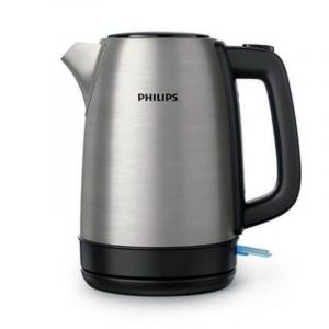 PHILIPS Kettle , 2200 watts ,1.7 Liters - Steel , Durable stainless steel body for long life - HD9350/92