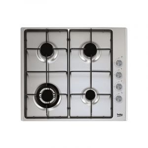 BEKO Plat Built in Gas Hob, 4 Burners , Silver - HIZG64121SXL