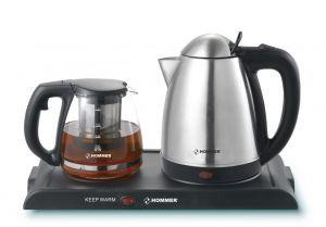 Hommer 1.5 Liter Kettle with Tea Maker  - HSA222-01, Silver, Stainless Steel