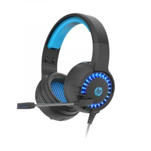 HP Stereo Headphone with LED , Black - DHE-8011Um
