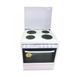 Home Queen Electric Oven , 4 Stone Burners , White - HQEC66W