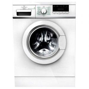 Home Queen Washing Machine Automatic Front Load Capacity 8KG , Dryer 75% , White - HQFM8003