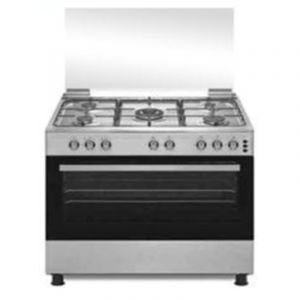 HOME QUEEN oven gas size 60×90 cm -5 eyes electricity -TURKY- Steel-HQGC96ST