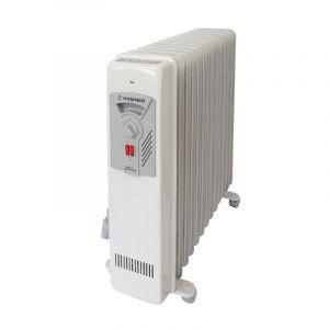 هومر دفاية زيت عدد 15 ريشة - قدرة 2500واط , خاصية التحكم بدرجة الحرارة ومثالية لمرضى الحساسية ,  أمان عند السقوط ,  صنع في ألمانيا , HSA204-10