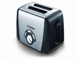هومر حماصه خبز بشريحتين ، ستنلس ستيل، قدرة 850 واط،  فتحة عريضة لجميع أنواع الخبز HSA206-03