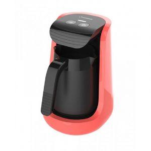 هومر ماكينة صنع القهوه 500 واط, تغلي 1-4 فنجان قهوة تركيه, ملعقة قياسيه, احمر- HSA241-04
