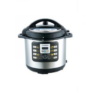 Hommer Pressure Cooker , 6 L , 1000 W , Accessories ,Steel/Black - HSA247-01