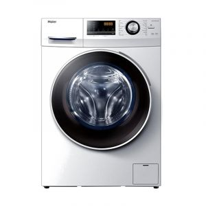 Haier Washing Machines Front Load, 10 kg , Dryer 75% , DD ,White - HW100-B12636