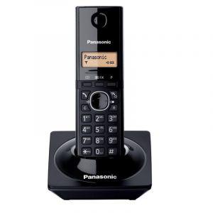 باناسونيك تليفون لاسلكي 1.4 بوصة، عرض سهل، شاشة ال سي دي، معرف الاتصال، أسود - KX-TG1711UEB