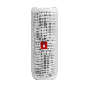 JBL Flip 5 Portable Speaker, Waterproof , Bluetooth, WHITE- JBLFLIP5WHT