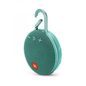 JBL Clip 3 Portable Waterproof Wireless Bluetooth Speaker, Teal - JBLCLIP3TEAL