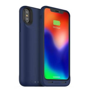 mophie - Juice Pack Air External Battery Case with Wireless Charging for Apple® iPhone X - Blue