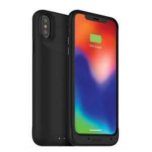 mophie - Juice Pack Air External Battery Case with Wireless Charging for Apple iPhone X - Black