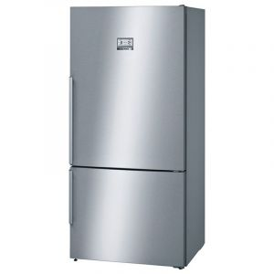 BOSCH Refrigerator 2 door, 21.85 ft (Lower Fraser, LED lighting, Combo ,Vita Fresh ,Enox exterior doors easy to clean,Steel - KGN86A140B