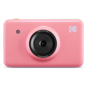 KODAK Mini Shot Instant Camera Wireless 2 in 1 Digital Camera & Printer, Pink - MS-210PK