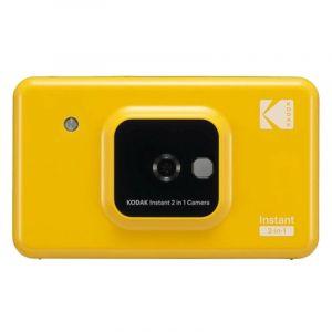 KODAK Mini Shot Instant Camera Wireless 2 in 1 Digital Camera & Printer, Yellow - C210-Y - Blackbox