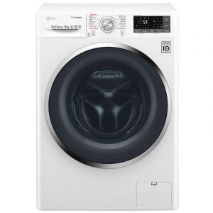 LG 9kg Front load washing machine, White Color, TurboWash™, SmartThinQ (Wi-Fi) - WFS0914WHN