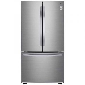 LG Refrigerator Side by Side , 640 L , 22.5 FT , Inverter Compressor , Silver - LM293BBSLN