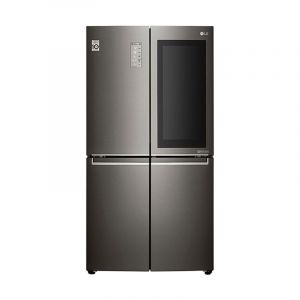 LG refrigerator Side by Side 2 doors, 26.7 feet, 755 L, Hygiene Fresh+ , Inverter Compressor, Korea , Black Stainless - LM334BBSLN