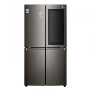 LG refrigerator wardrobe 4 doors, 26.7 feet, door in door, LED lighting, 756 liters, Black - LM334VBBLN