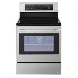 LG  Ceramic Free standing Electric Oven 5 Hobs, Big Capacity , True convection, Bake Heater - LRE3193ST