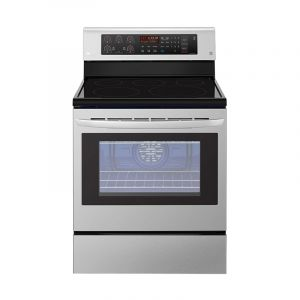 LG Ceramic Free standing Electric Oven 75x65 cm, 5 Hobs, Big Capacity , True convection, Bake Heater - LRE3193ST