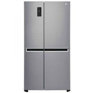 LG Refrigerator 22.1 S. Cu. Ft Side By Side, Silver, Smart Diagnosis, Inverter Linear Compressor-LS242BBSLN